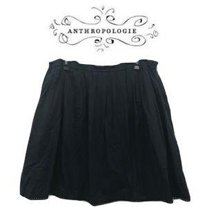 Odille Anthropologie Size M Skirt Solid Black Mini